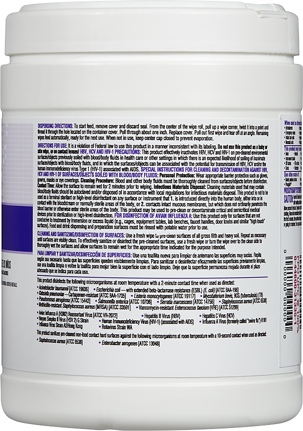 Clorox Healthcare® Quat Alcohol Cleaner Disinfectant Wipes