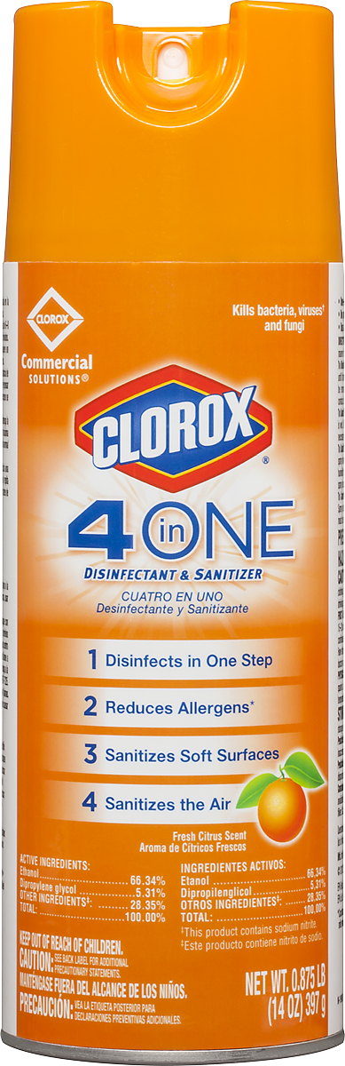 Clorox 174 4 In One Disinfectant Amp Sanitizer Cloroxpro