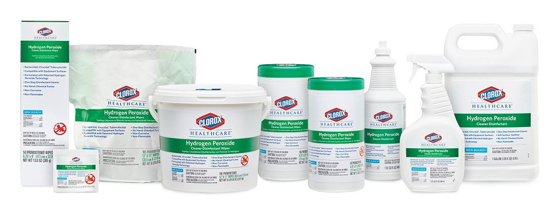 Clorox Healthcare® Hydrogen Peroxide Cleaner Disinfectants