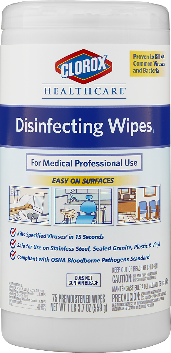 Clorox Healthcare® Disinfecting Wipes - Sanitizing Wipes
