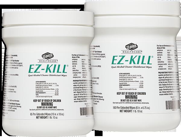 Clorox® EZ-KILL® Quat Alcohol Cleaner Disinfectant Wipes