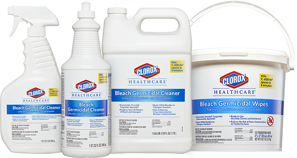 Clorox Healthcare® Bleach Germicidal Disinfectant Wipes